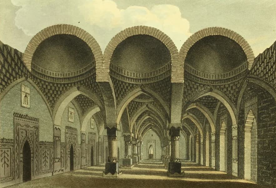 The Ruins of Gour - Inside of Chuta Suna Masjid, or Small Golden Mosque (1817)