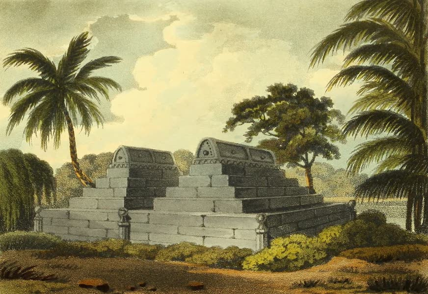 The Ruins of Gour - Tombs at the Small Golden Mosque (1817)