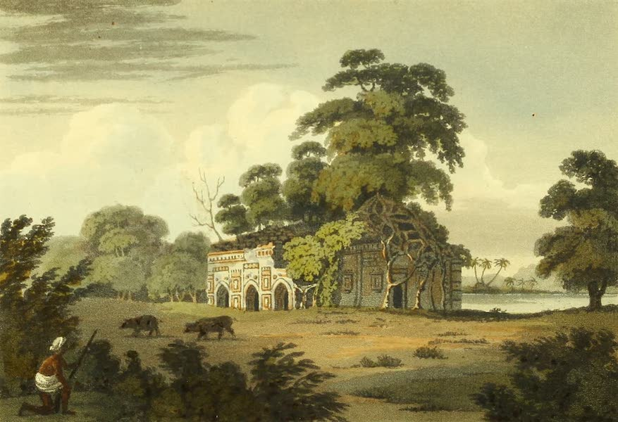 The Ruins of Gour - Cham Kutta, A Small Mosque (1817)