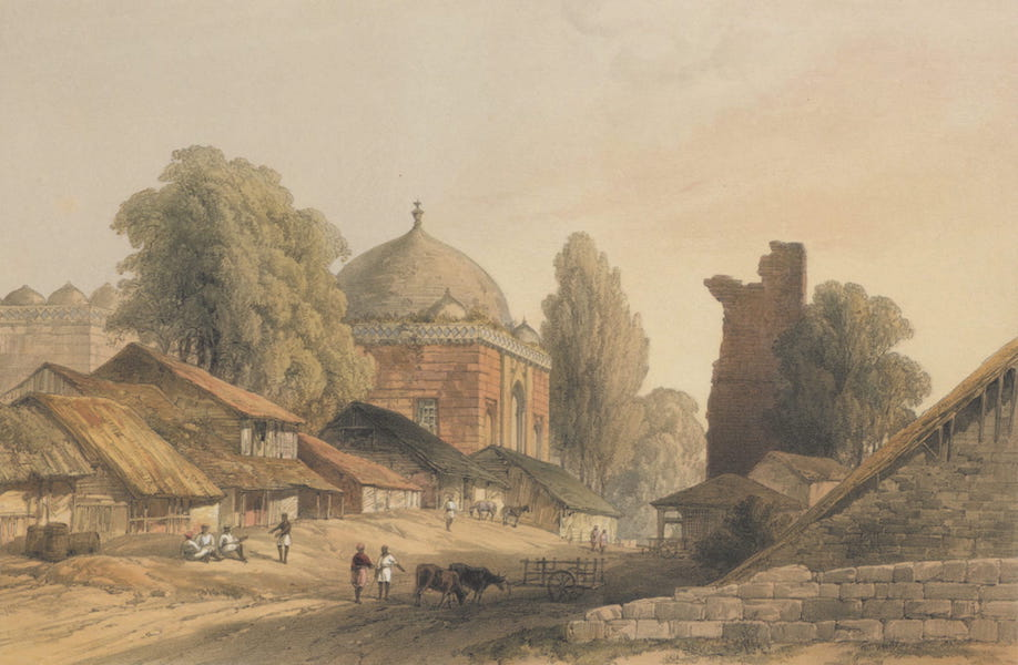 The Ruins of Mandoo - The Modern Village of Mandoo, and the Ancient Mosque the