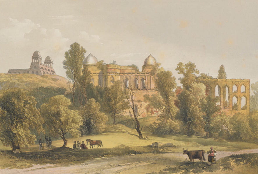 The Ruins of Mandoo - Palace of the Sultan Baz Bahadoor, and Pavilion of Roop Muttee, his Queen (1860)