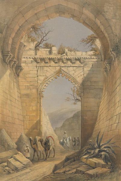 The Ruins of Mandoo - The Delhi Gate (1860)