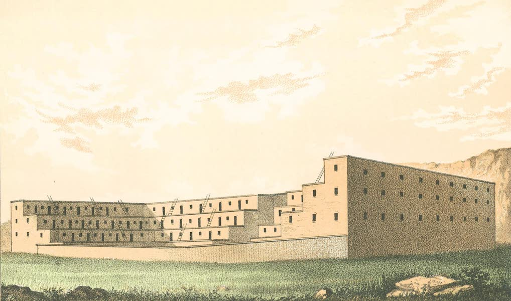 The Ruins to be Found in New Mexico - Supposed Appearance of the Pueblo, Hungo Pavie, in its Integrity (1874)