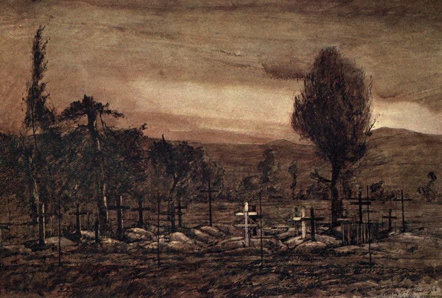 The Salonika Front - British Military Cemetery at the Cross Roads, Dragos (1920)