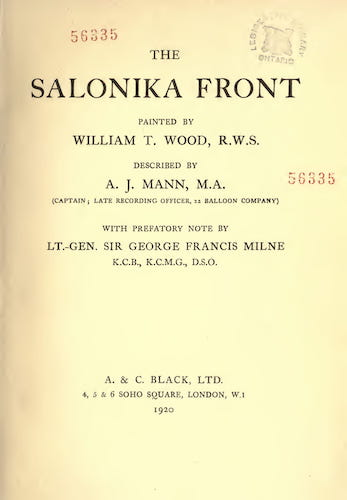 The Salonika Front (1920)