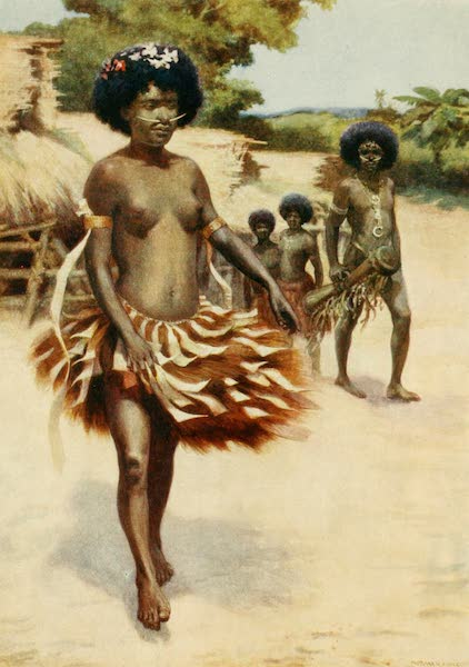 The Savage South Seas, Painted and Described - Off to the Dubu Dance - British New Guinea (1907)