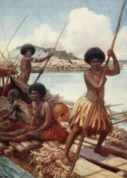 The Savage South Seas, Painted and Described - Off to Market, British New Guinea (1907)