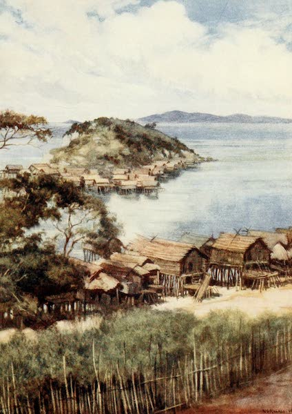 The Savage South Seas, Painted and Described - The Island of Elevera from the Mission Station, Port Moresby, British New Guinea (1907)