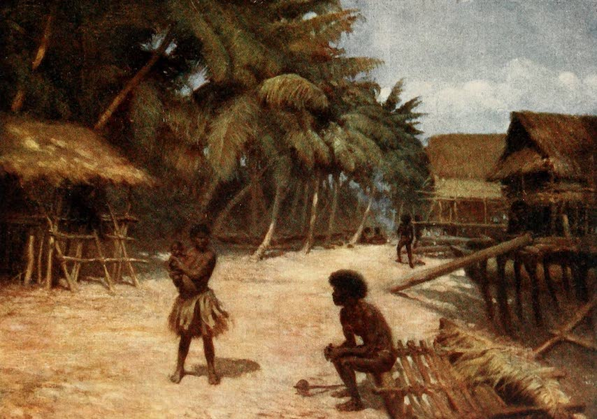 The Savage South Seas, Painted and Described - Motu Village, Port Moresby, British New Guinea (1907)