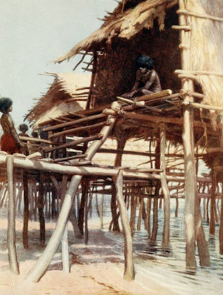 The Savage South Seas, Painted and Described - In the Pile Dwellings at Hanuabada, Port Moresby British New Guinea (1907)