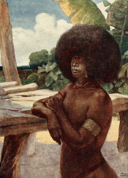 The Savage South Seas, Painted and Described - Native of British New Guinea, showing the manner of wearing the hair (1907)