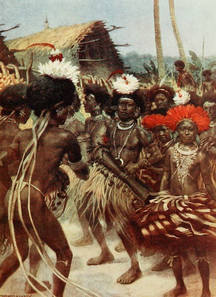 The Savage South Seas, Painted and Described - Harvest Dance, New Guinea (1907)