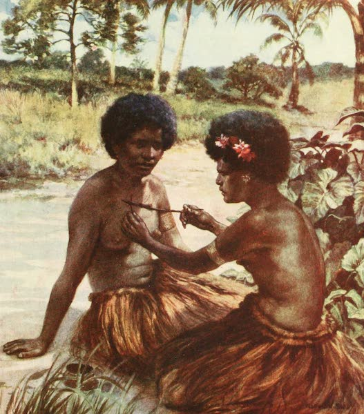 The Savage South Seas, Painted and Described - Tattooing, British New Guinea (1907)
