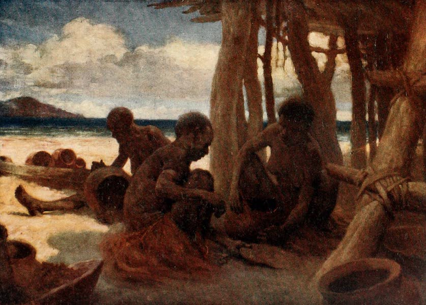 The Savage South Seas, Painted and Described - Old Women making Pottery, British New Guinea (1907)