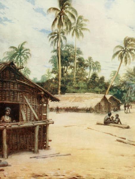 The Savage South Seas, Painted and Described - Solomon Island Village, near Marau Sound, New Florida (1907)
