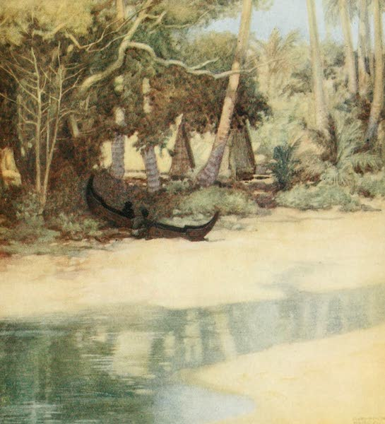 The Savage South Seas, Painted and Described - A Lagoon in New Florida, Solomon Islands (1907)