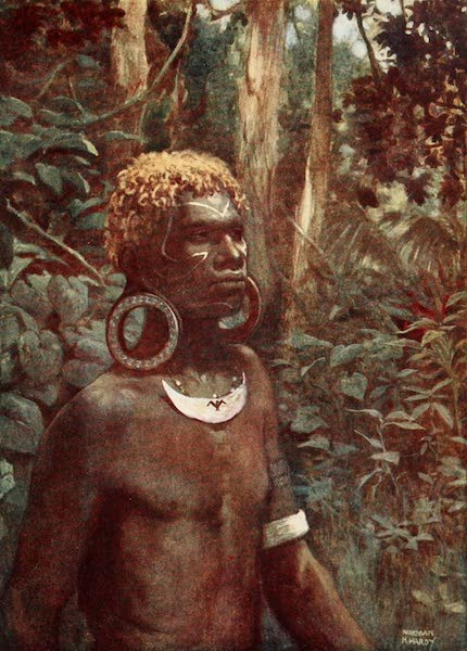 The Savage South Seas, Painted and Described - A Rubiana Native, Solomon Islands (1907)