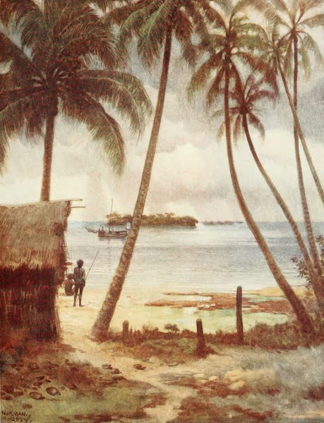 The Savage South Seas, Painted and Described - A Stormy Day in Rubiana Lagoon, Solomon Islands (1907)