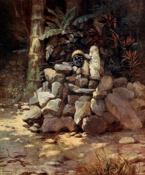 The Savage South Seas, Painted and Described - A Shrine or Tomb of a Chief at Simbo, Solomon Islands (1907)