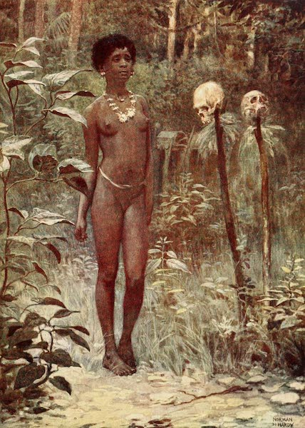 The Savage South Seas, Painted and Described - A Tapu Virgin, British Solomon Islands (1907)