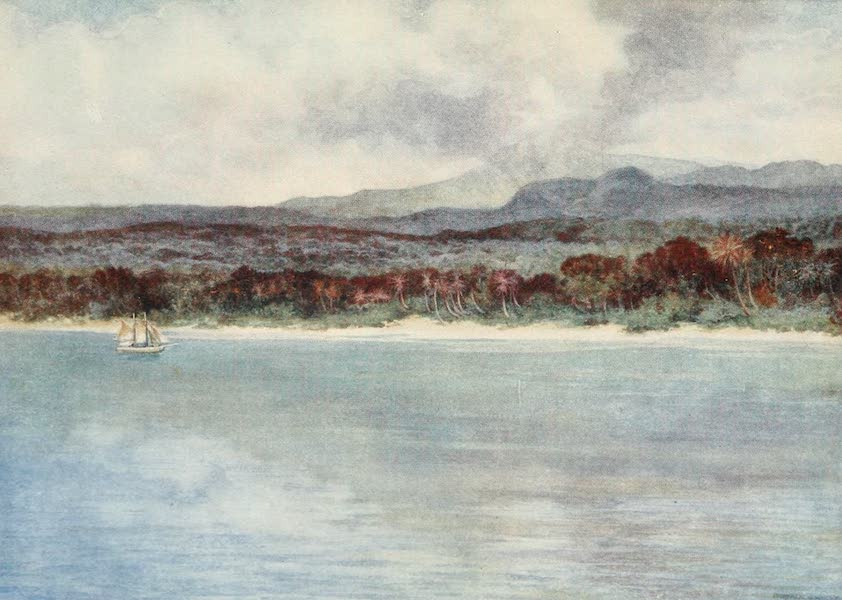 The Savage South Seas, Painted and Described - Mount Marion, the active Volcano, Island of Ambryn, New Hebrides (1907)