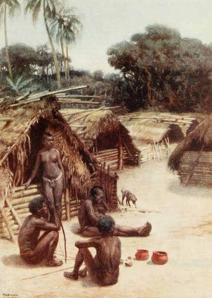 The Savage South Seas, Painted and Described - A Village in Santo, New Hebrides (1907)