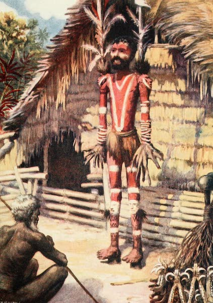 The Savage South Seas, Painted and Described - A Memorial Effigy, Malekula, New Hebrides (1907)