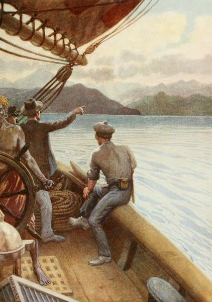The Savage South Seas, Painted and Described - Leaving Santo, a view of the Mountains, New Hebrides (1907)