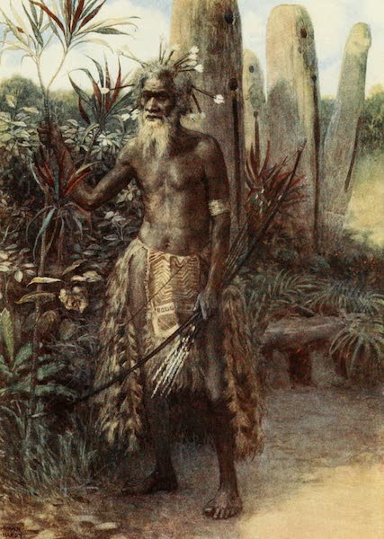 The Savage South Seas, Painted and Described - A Sacred Man, Aoba, New Hebrides (1907)