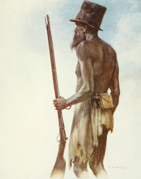 The Savage South Seas, Painted and Described - Old Cannibal Chief whom the Artist met on the Island of Aoba, New Hebrides (1907)