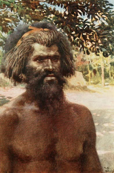 The Savage South Seas, Painted and Described - Type of Man from the Island of Tanna, New Hebrides (1907)