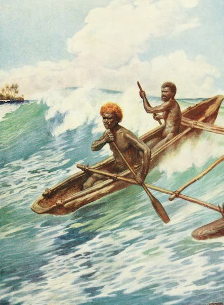 The Savage South Seas, Painted and Described - Passing the Reef, Aoba, New Hebrides (1907)