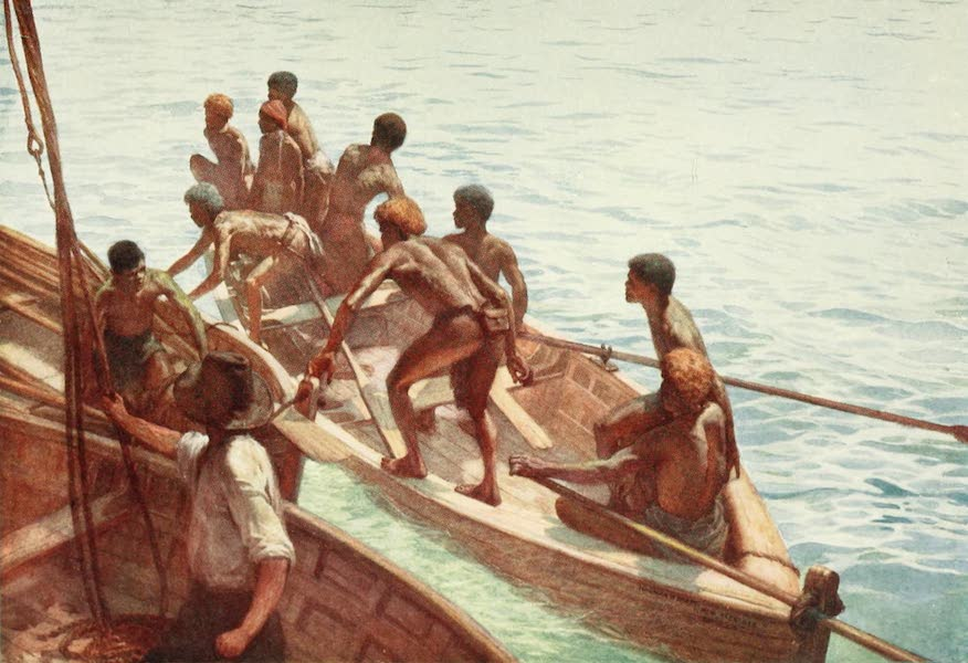 The Savage South Seas, Painted and Described - Copra Boys off to the Shore, New Hebrides (1907)