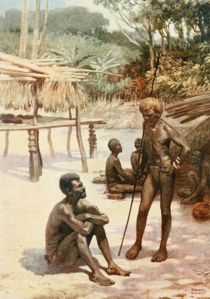The Savage South Seas, Painted and Described - A Yam Shed on the Island of Tierra Espiritu Santo, New Hebrides (1907)