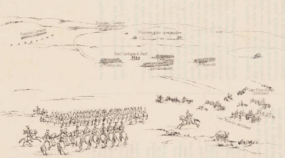 """The Seat of War in the East Vol. 1 - Key to """"The Cavalry Affair of the Heights of Bulcanak - The First Gun"""" (1855)"""