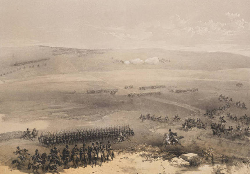 The Seat of War in the East Vol. 1 - The Cavalry Affair of the Heights of Bulganak - The First Gun. 19th Sepr. 1854. (1855)