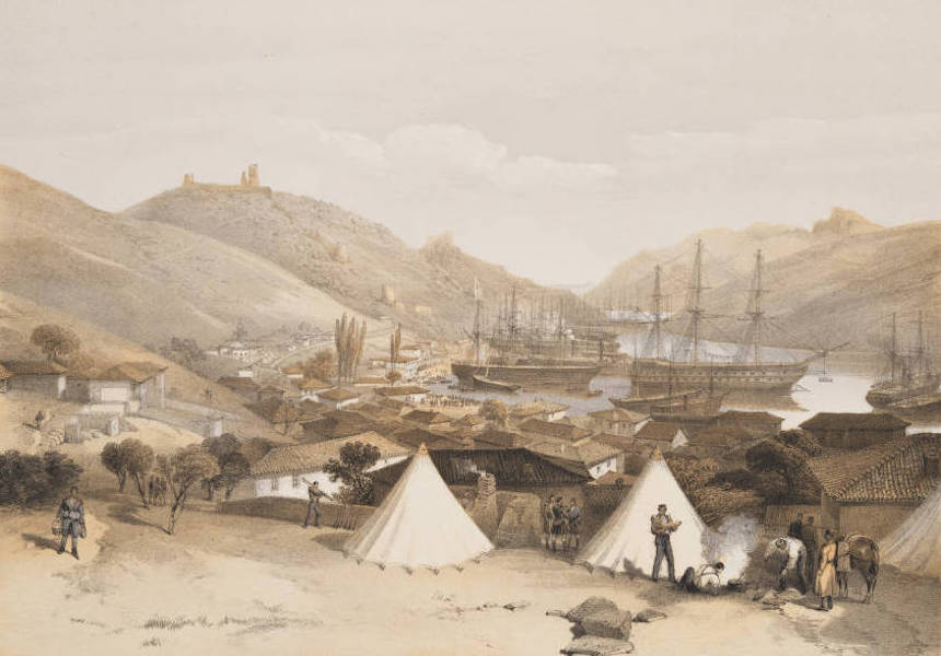 The Seat of War in the East Vol. 1 - Balaklava, Looking towards the Sea. (1855)