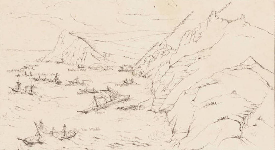 """The Seat of War in the East Vol. 1 - Key to """"The Gale off the Port of Balaklava 14th Novr. 1854."""" (1855)"""