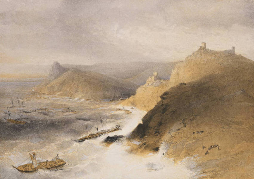 The Seat of War in the East Vol. 1 - The Gale off the Port of Balaklava. 14th Nov. 1854. (1855)