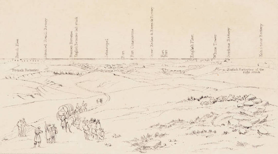 """The Seat of War in the East Vol. 1 - Key to """"Sebastopol from the Rear of the English Batteries."""" (1855)"""