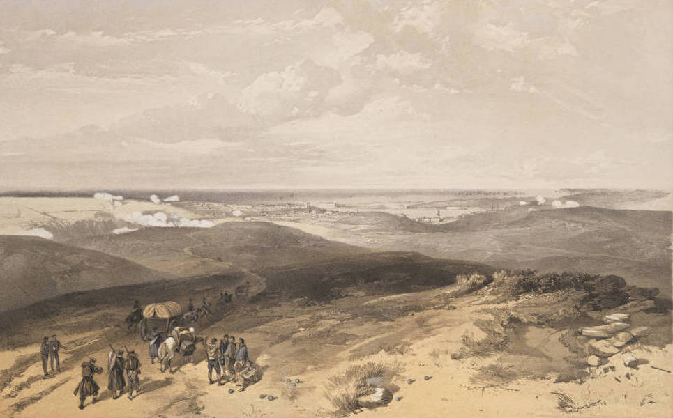 The Seat of War in the East Vol. 1 - Sebastopol from the Rear of the English Batteries. (1855)