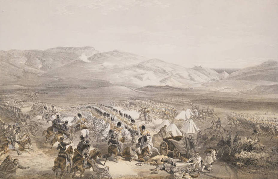 The Seat of War in the East Vol. 1 - Charge of the Heavy Cavalry Brigade. 25th Octr. 1854. (1855)