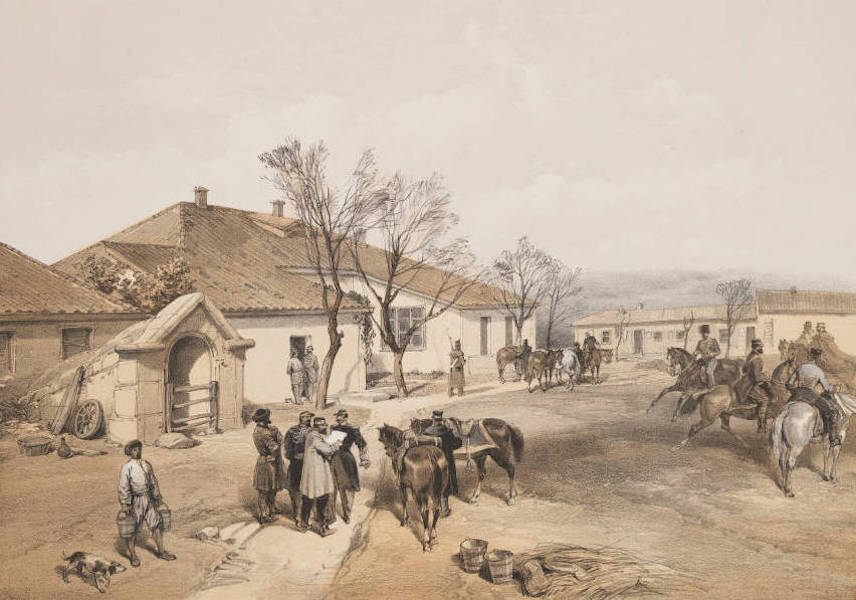 The Seat of War in the East Vol. 1 - Lord Raglan's Head Quarters at Khutor-Karagatch. (1855)