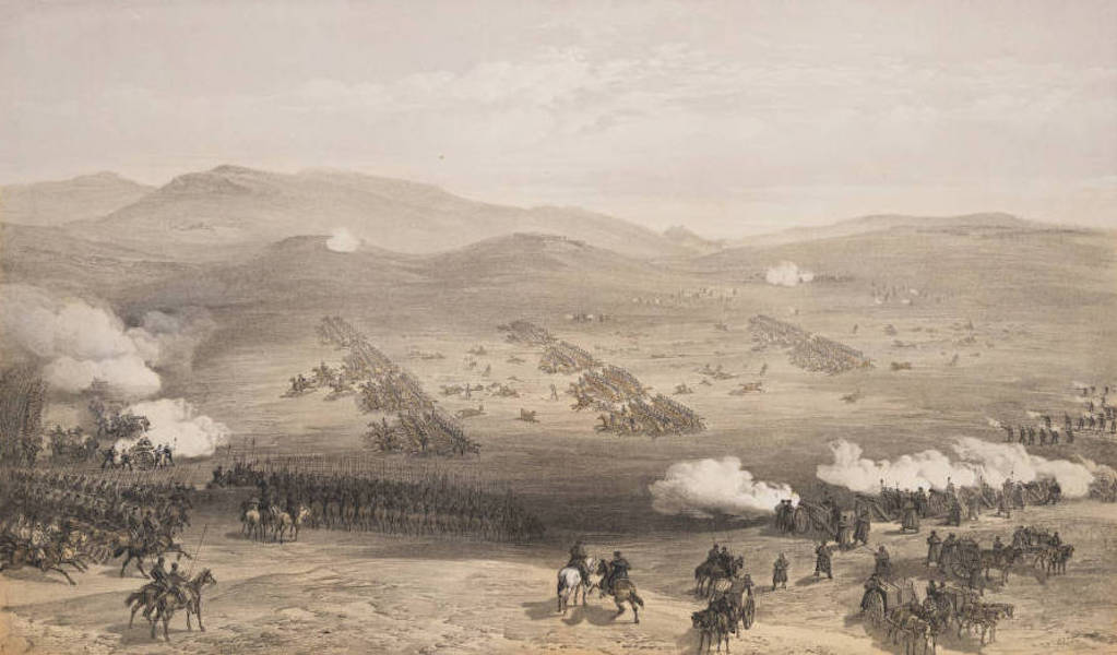 The Seat of War in the East Vol. 1 - Charge of the Light Cavalry Brigade. 25th Oct. 1854. (1855)