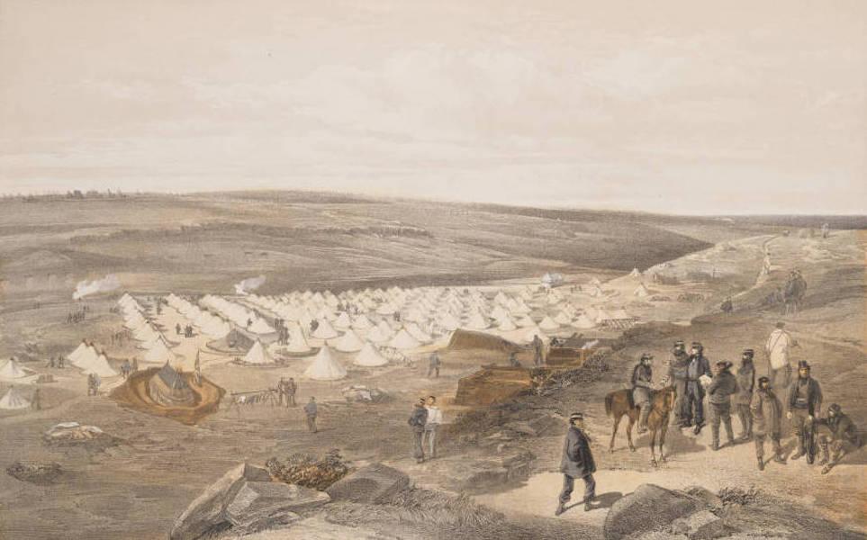 Camp of the Naval Brigade, Before Sebastopol.