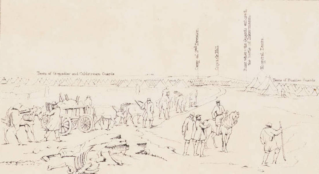"""The Seat of War in the East Vol. 1 - Key to """"The Camp of the 1st Division."""" (1855)"""