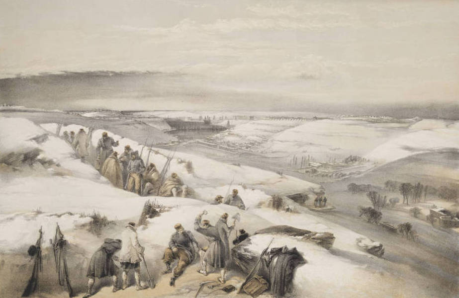 The Seat of War in the East Vol. 1 - Sebastopol from the 26 Gun Battery on the Extreme Right of French Attack. (1855)