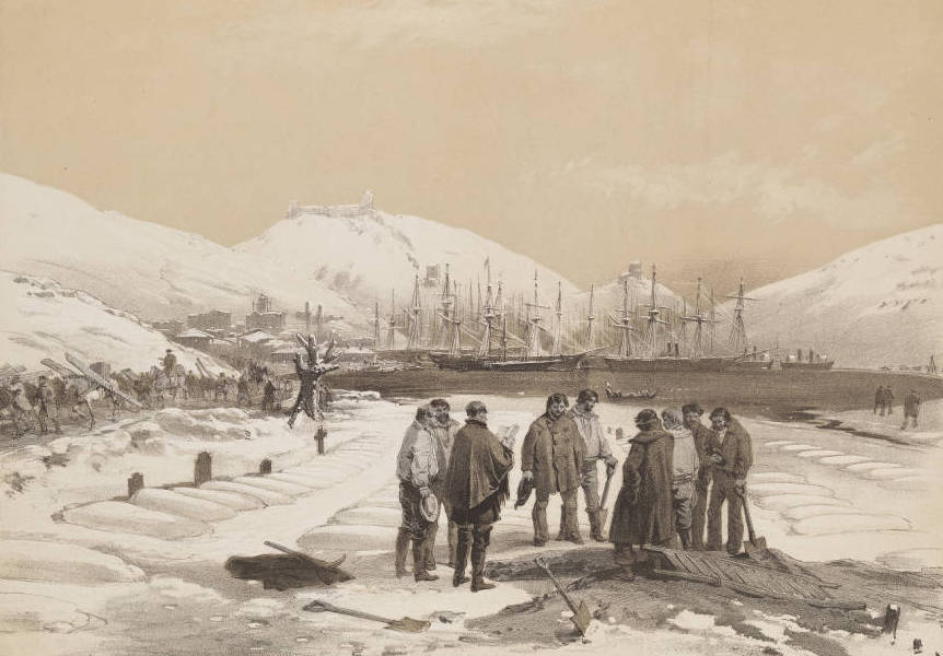 The Seat of War in the East Vol. 1 - Graves at the Head of the Harbour of Balaklava. (1855)