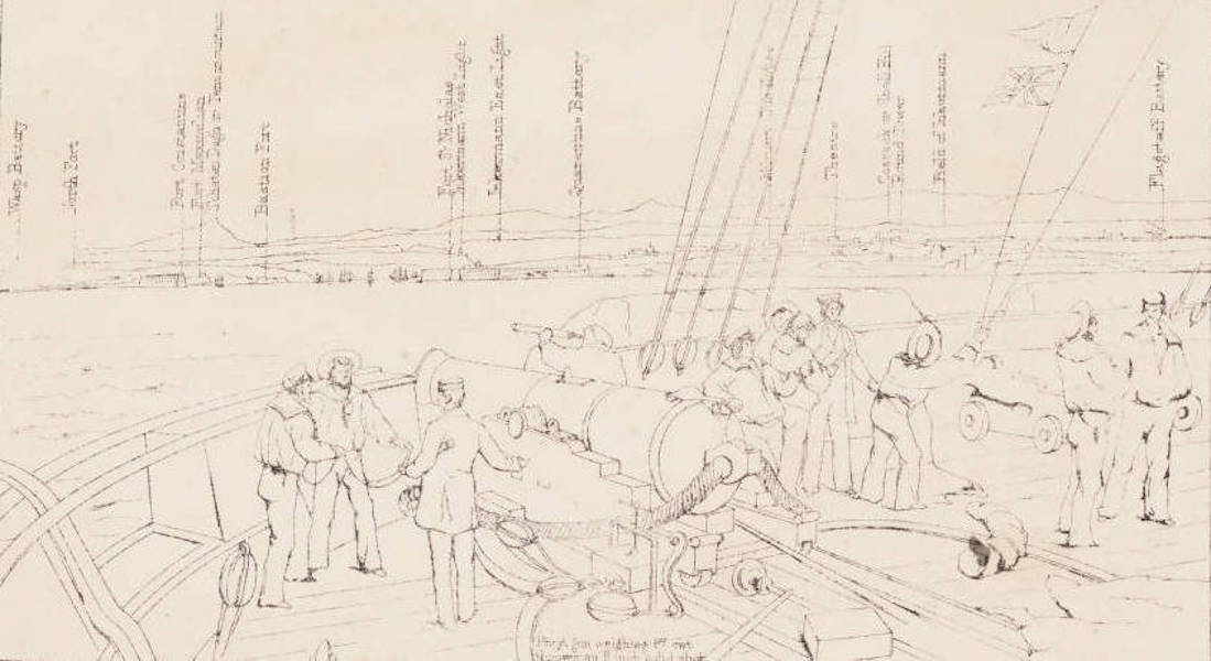 """The Seat of War in the East Vol. 1 - Key to """"Sebastopol from the Sea."""" (1855)"""