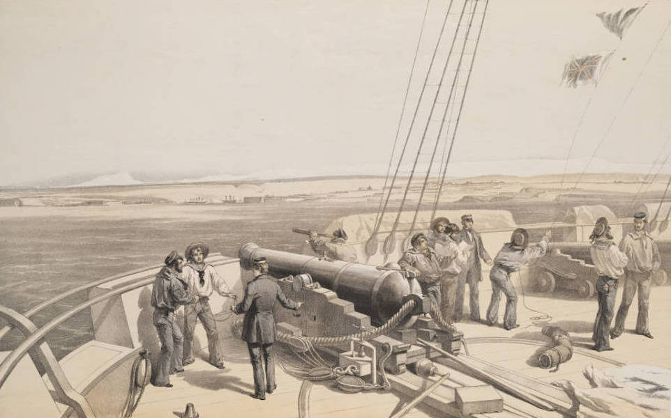 The Seat of War in the East Vol. 1 - Sebastopol from the Sea. Sketched from the Deck of the H.M.S. Sidon. (1855)